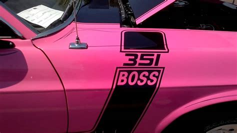 O'meara Ford Car Show Pink 1969 Ford Mustang Boss 351