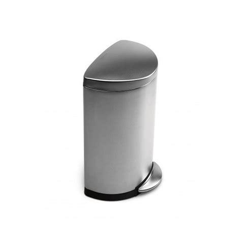 poubelle cuisine 40l poubelle à pédale 40l demi lune acier brossé simplehuman
