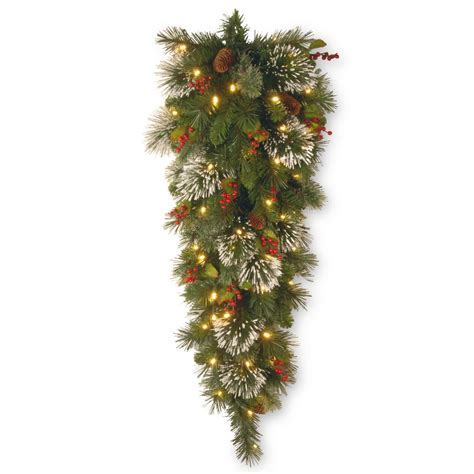 National Tree Company Wintry Pine 48 in. Teardrop with