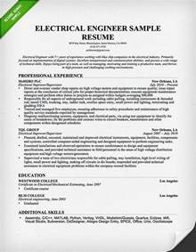 resume template for electrical engineers electrical engineer resume sle resume genius