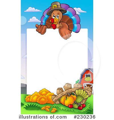 Thanksgiving Turkey Border Clip Art