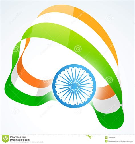 Stylish indian flag design stock vector. Image of