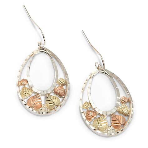 Black Hills Gold Double Teardrop Earrings  213110