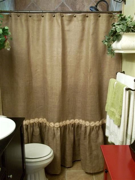 burlap shower curtain top 40 beautiful designs of bathroom curtains