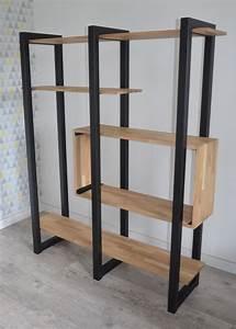 Etagere Bois Design : les 25 meilleures id es de la cat gorie etagere bois metal ~ Teatrodelosmanantiales.com Idées de Décoration