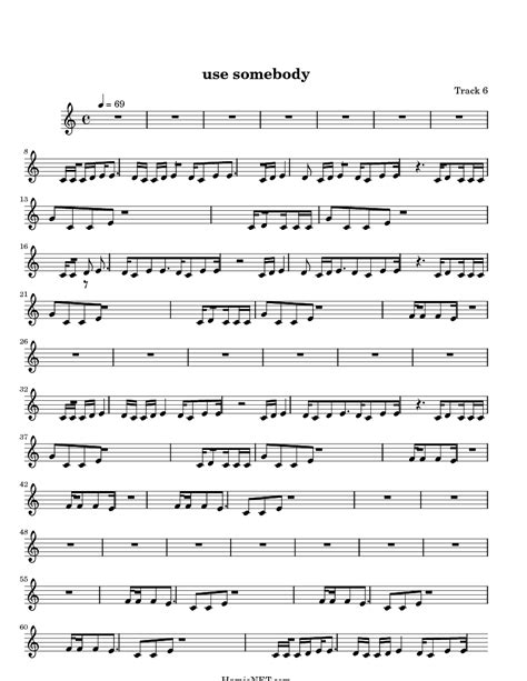use somebody sheet music use somebody score hamienet com