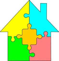 Puzzle House Clip Art