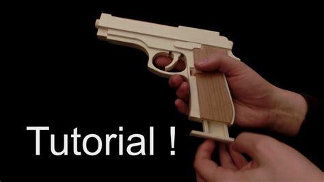 tutorial  rubber band gun youtube