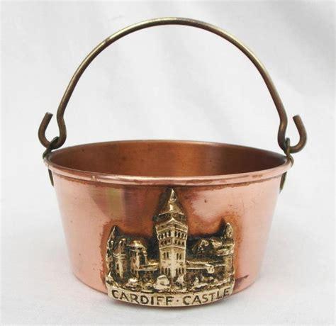 vintage peerage miniature brass copper cookingpreserving pan cardiff castle bakir