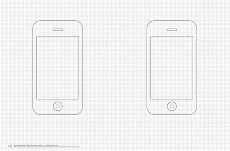 sketch iphone template free printable mobile sketching templates