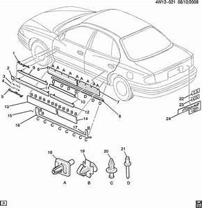Buick Regal Molding Kit  Front Side Door  Matchincludes  Insertsorder