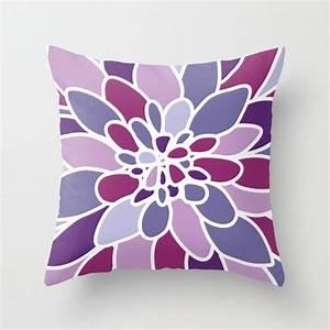 Couverture D39oreiller Fleur Dahlia Violet Pourpre Par