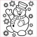 Snowman Coloring Christmas Pages Printable Filminspector sketch template