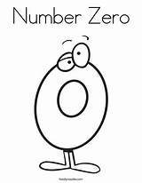 Number Zero Coloring Clipart Numbers Twistynoodle Preschool Thinking Pages Clip Outline Printable Tracing Activities Hint Even None Block Twisty Maths sketch template