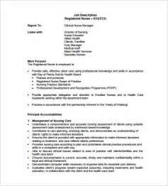rn duties description registered description template 9 free word