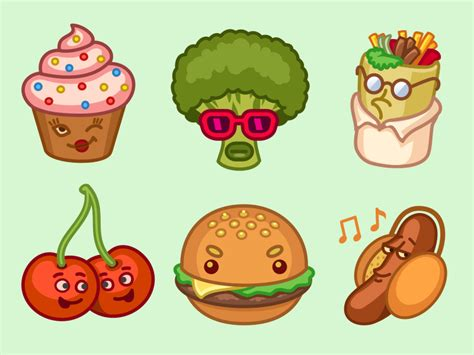cuisine stickers imo food stickers by iconka com dribbble