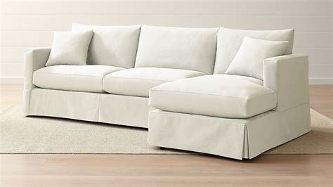 willow  piece  arm chaise sectional crate  barrel