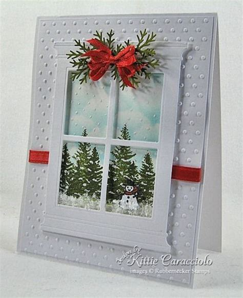 window greeting card cut window frame  panes
