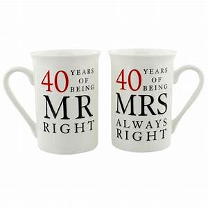 40 years of being right anniversary mug find me a gift With gift for 40 wedding anniversary