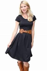 Ivy Modest Dress in Black
