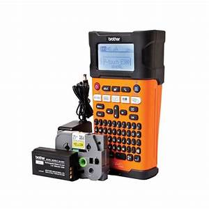 brother pte 300vp handheld electrician labelmaker and case With electrician label maker