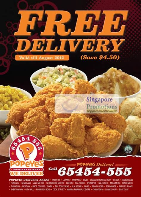 popeyes singapore  delivery promotion  jun  jul