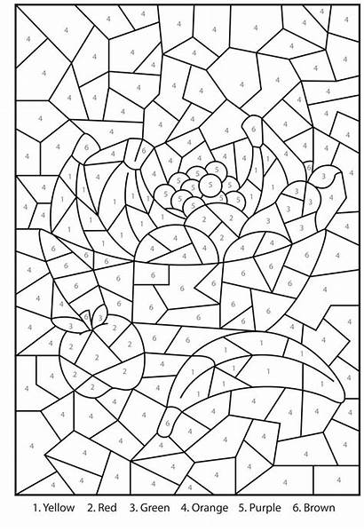 Number Printable Coloring Pages Printables Numbers Colour