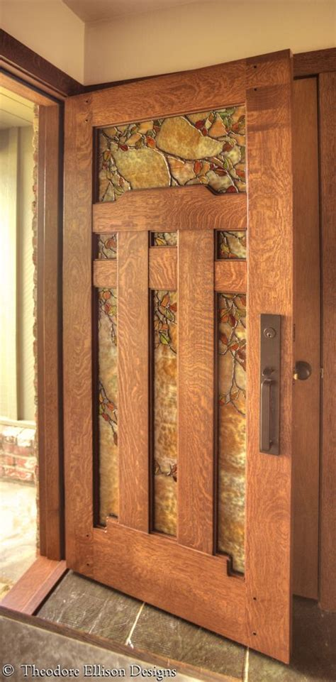 awesome dunsmuir door  fall leaf art glass  theodore
