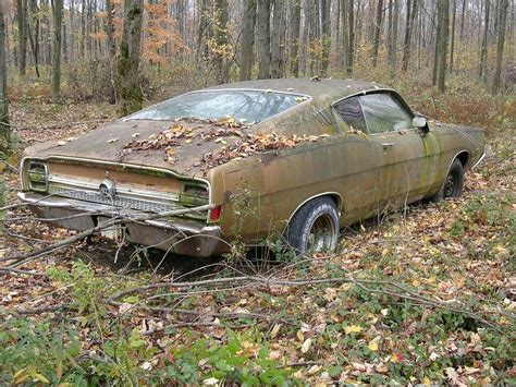 A Beautiful Abandoned Car Found In A Forest Abandoned