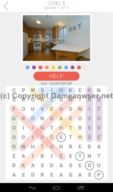 colorful kitchen knives 10x10 word search level 5 answers and hints answer