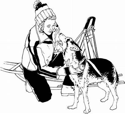 Clipart Musher Sled Dog Clip Young Tracy