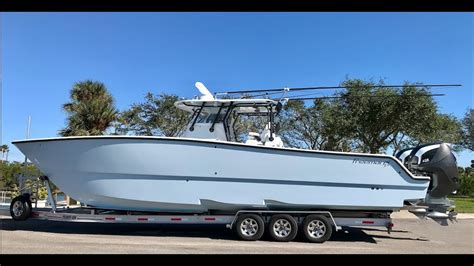 Freeman Boats With Seven Marine freeman 37vh with seven marine outboards sea trial