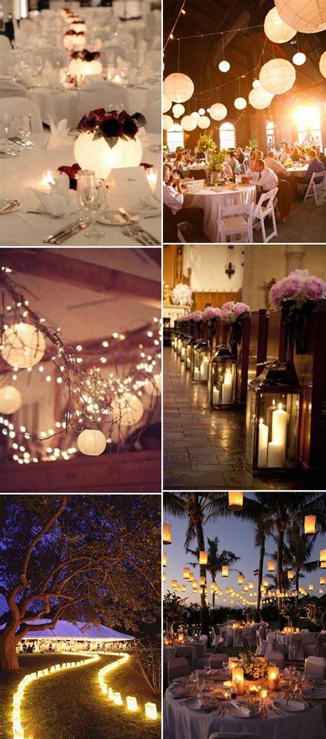 Wedding Reception Lighting by 5 Ways To Light Your Wedding Receptions