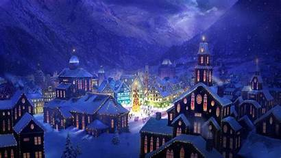 Christmas Village Winter Holiday Wallpapers Background Backgrounds
