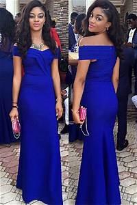 Royal blue wedding guest dress sheath off shoulder 2018 for Royal blue wedding guest dress