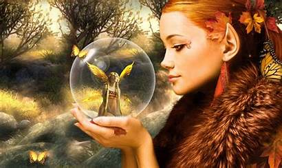 Fantasy Fairy Autumn Fairies Wallpapers Digital Artwork