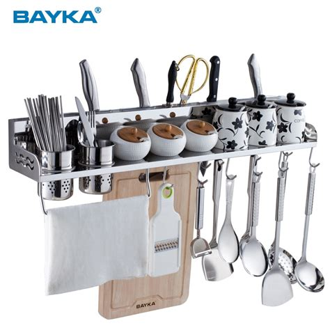 Kitchen Products In by Sallei 304 Stainless Steel Pemegang Alat Dapur Rak Produk