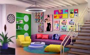 Pop Art Design Retro Pop Art Interior By Ultrarender Dworh VangViet Interior Design