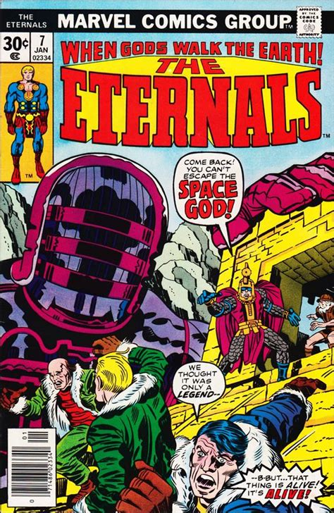 Eternals 7 A, Jan 1977 Comic Book by Marvel