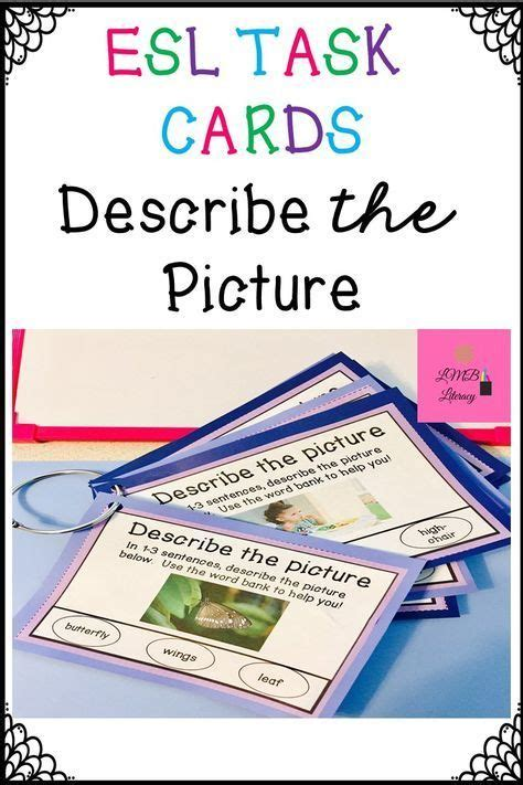 esl newcomer activities task cards  vocabulary