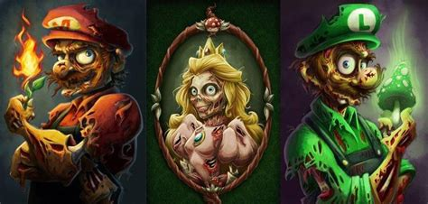 Zombie Mario Peach And Luigi All Things Disney