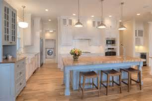 Open Kitchen Design With Island New Classic Coastal Home Home Bunch Interior Design Ideas