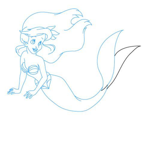 draw  cartoon mermaid clipartsco