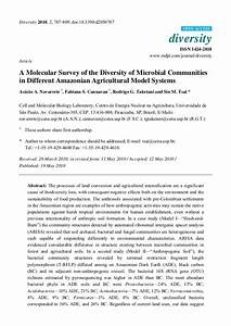 A molecular survey of the diversity of microbial ...