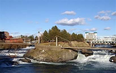 Spokane Wa Washington Riverfront Monroe Falls Park