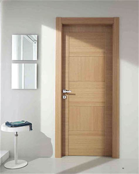 modern hinged door bleached oak modern interior italian doors