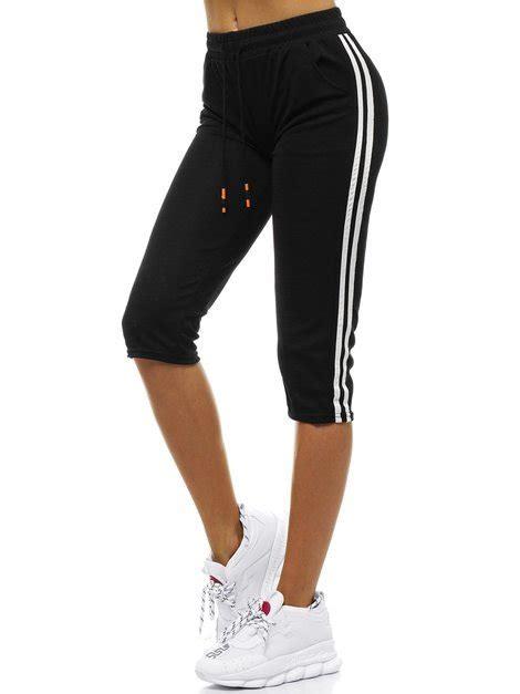 Sieviešu sporta šorti melni OZONEE JS/1021/D1 | OZONEE.LV