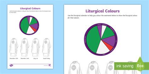 catholic liturgical colors liturgical colours activity liturgical seasons