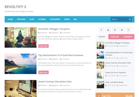 Blog In From Oter Template by Revoltify Alternate 2 Template