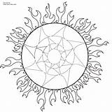 Coloring Printable Pages Sun Native American Adult Pagan Indian Wiccan Symbols Dream Americans Catcher Drawing Books Sheets Printables Mandalas Colouring sketch template